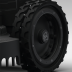 Double tyred rubber wheel